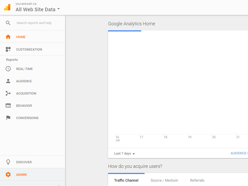 Step 1 - Log into Google Analytics