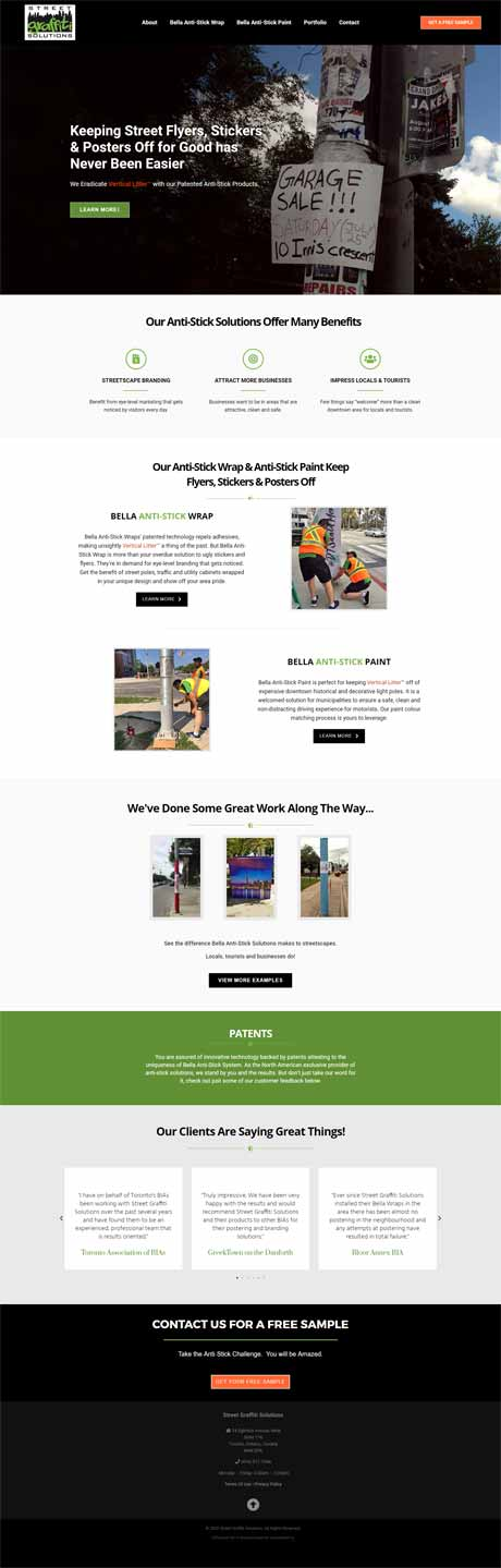 Street Graffiti Solutions Projects Website Screenshot